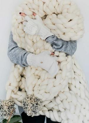 DIY couverture en laine XXL
